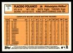2012 Topps Heritage #71  Placido Polanco  Back Thumbnail