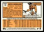 2012 Topps Heritage #180  Mitch Moreland  Back Thumbnail