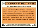 2012 Topps Heritage #412   -  Matt Kemp / Andre Ethier / Clayton Kershaw Dodgers Big Three Back Thumbnail