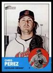 2012 Topps Heritage #129  Chris Perez  Front Thumbnail