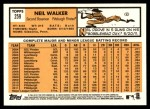 2012 Topps Heritage #259  Neil Walker  Back Thumbnail