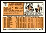 2012 Topps Heritage #164  Austin Jackson  Back Thumbnail
