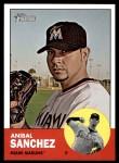 2012 Topps Heritage #344  Anibal Sanchez  Front Thumbnail