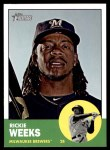 2012 Topps Heritage #433  Rickie Weeks  Front Thumbnail