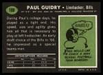 1969 Topps #109  Paul Guidry  Back Thumbnail