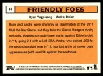 2012 Topps Heritage #68   -  Ryan Vogelsong / Andre Ethier Friendly Foes Back Thumbnail