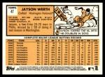 2012 Topps Heritage #47  Jayson Werth  Back Thumbnail