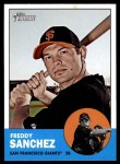 2012 Topps Heritage #185  Freddy Sanchez  Front Thumbnail