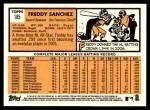 2012 Topps Heritage #185  Freddy Sanchez  Back Thumbnail