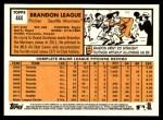 2012 Topps Heritage #444  Brandon League  Back Thumbnail