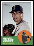 2012 Topps Heritage #444  Brandon League  Front Thumbnail