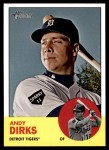 2012 Topps Heritage #240  Andy Dirks  Front Thumbnail