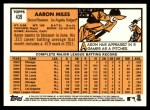 2012 Topps Heritage #439  Aaron Miles  Back Thumbnail