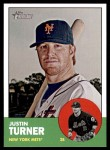 2012 Topps Heritage #292  Justin Turner  Front Thumbnail