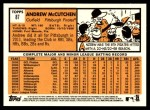2012 Topps Heritage #87  Andrew McCutchen  Back Thumbnail