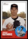 2012 Topps Heritage #417  Jeremy Guthrie  Front Thumbnail