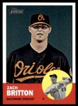 2012 Topps Heritage #19  Zach Britton  Front Thumbnail