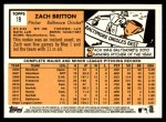 2012 Topps Heritage #19  Zach Britton  Back Thumbnail