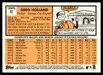 2012 Topps Heritage #82  Greg Holland  Back Thumbnail
