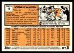 2012 Topps Heritage #49  Jordan Walden  Back Thumbnail