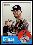 2012 Topps Heritage #495  James Shields  Front Thumbnail