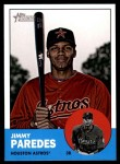 2012 Topps Heritage #45  Jimmy Paredes  Front Thumbnail