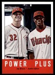 2012 Topps Heritage #242   -  Jay Bruce / Justin Upton Power Plus Front Thumbnail