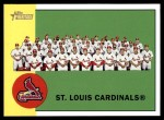 2012 Topps Heritage #114   Cardinals Team Front Thumbnail