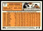 2012 Topps Heritage #317  Jason Donald  Back Thumbnail