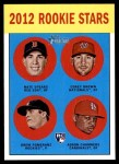 2012 Topps Heritage #321   -  Drew Pomeranz / Nate Spears / Corey Brown / Adron Chambers Rookies Front Thumbnail