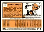 2012 Topps Heritage #122  Hanley Ramirez  Back Thumbnail