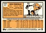 2012 Topps Heritage #327  Rick Porcello  Back Thumbnail