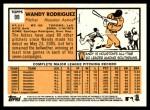 2012 Topps Heritage #99  Wandy Rodriguez  Back Thumbnail