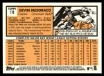 2012 Topps Heritage #178  Devin Mesoraco  Back Thumbnail