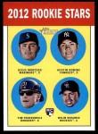 2012 Topps Heritage #324   -  Jesus Montero / Austin Romine / Tim Federowicz / Wilin Rosario Rookies Front Thumbnail