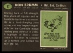 1969 Topps #87  Don Brumm  Back Thumbnail