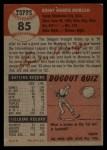1953 Topps #85  Bob Morgan  Back Thumbnail