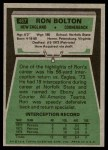 1975 Topps #467  Ron Bolton  Back Thumbnail
