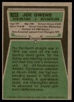 1975 Topps #468  Joe Owens  Back Thumbnail