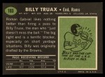 1969 Topps #103  Billy Truax  Back Thumbnail
