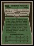 1975 Topps #508  Mirro Roder  Back Thumbnail