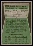 1975 Topps #509  Tom Sullivan  Back Thumbnail