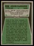 1975 Topps #427  John DeMarie  Back Thumbnail