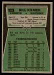 1975 Topps #480  Billy Kilmer  Back Thumbnail