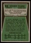 1975 Topps #491  Boobie Clark  Back Thumbnail