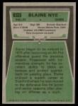 1975 Topps #512  Blaine Nye  Back Thumbnail