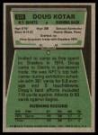 1975 Topps #516  Doug Kotar  Back Thumbnail