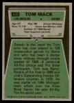 1975 Topps #420  Tom Mack  Back Thumbnail