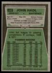 1975 Topps #443  John Hadl  Back Thumbnail