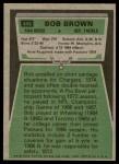 1975 Topps #448  Bob Brown  Back Thumbnail